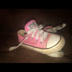 Toddler girl size 8 converse